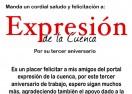 Felicitación de Gabriel Reyes Bejines