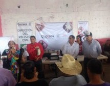 Entregan 600 actas a ciudadanos afectados por lluvias en Benemérito Juárez.
