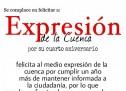 Felicitación del Fredy López Plasencia