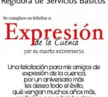 Felicitación de Guadalupe Santos por aniversario