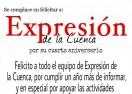 Felicitación de Beatriz Rivadeneyra a Expresión