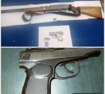 Policía Estatal realiza dos detenciones por portación ilegal de armas de fuego