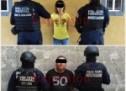 Fuerzas policiacas detienen a una pareja en Jalapa de Díaz, por manejo de drogas y armas