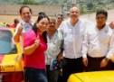 Taxistas oaxaqueños sumados a Raúl Bolaños y Javier Villacaña para llegar al Senado