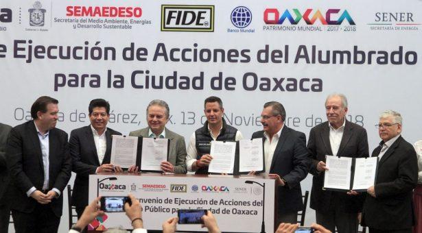 AMH respalda acciones de alumbrado público en la capital oaxaqueña