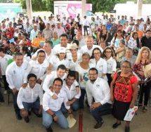 """Ivette Morán de Murat encabeza el Programa """"Juntos""""  en San Juan Bautista Tuxtepec"""