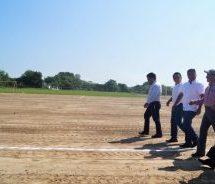 Existe avance del 98% en la construcción del Polideportivo de San Bartolo: Dávila