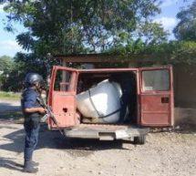 Asegura Policía Estatal hidrocarburo en Cosolapa