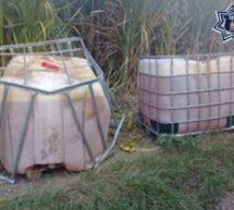 Alrededor de mil 600 litros de hidrocarburo  asegurados por la BOM en la Cuenca del Papaloapan