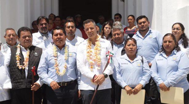Entrega AMH obras de infraestructura social, educativa y de salvaguarda del patrimonio histórico en San Agustín Etla