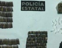 Detienen en Tuxtepeca dos personas que llevaban 229 cartuchos ydroga