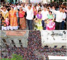 Comparte el Pueblo Oaxaqueño su música, tradición, color y algarabía en el Desfile de Delegaciones