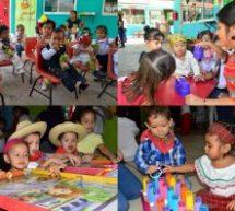 Fomentan valores y amor a la patria en las estancias del DIF de Tuxtepec