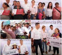 Atiende y responde Alejandro Murat a la ciudadaníadurante la Novena Audiencia Pública