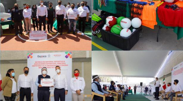 Entrega AMH material deportivo a organismos deportivos de Oaxaca por más de 400 mil pesos