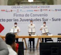Atestigua Alejandro Murat Pacto por las Juventudes del sur sureste del país